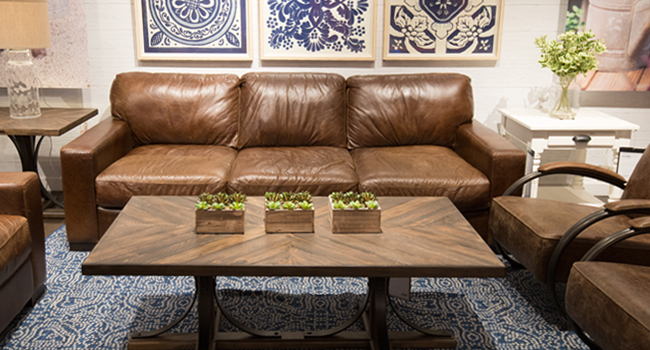 Authentic Leather Sofa Set