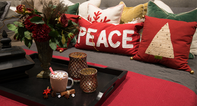 Holiday themed pillows