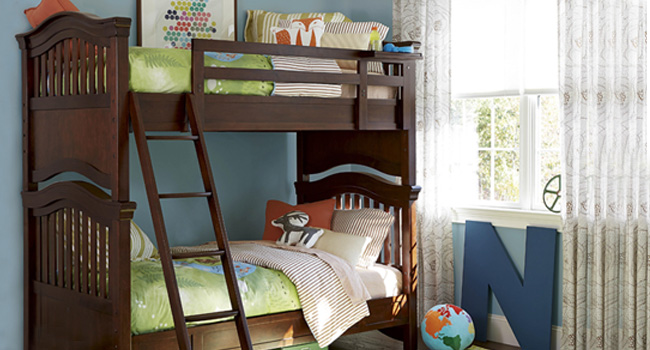 Big Style for the Little Ones || Kids' rooms take shape with cribs, bunk beds, chairs & more