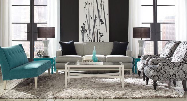 Living Room Furniture | Decorating With Contrasts | Jordan's Furniture Life&Style Blog
