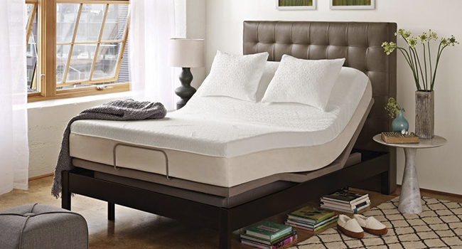 Adjustable Bed Base with Mattress