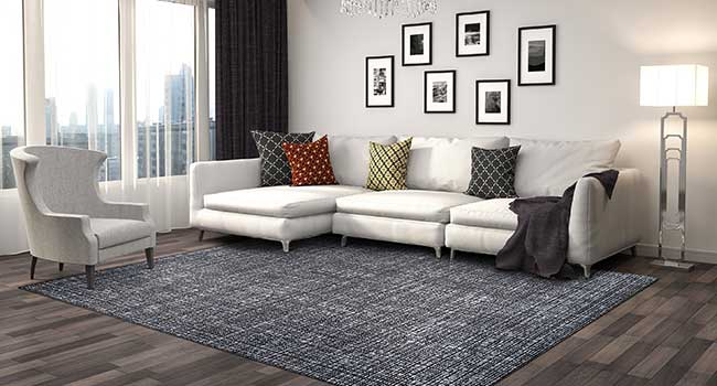 Living Room Sectional and Chair with throw pillows