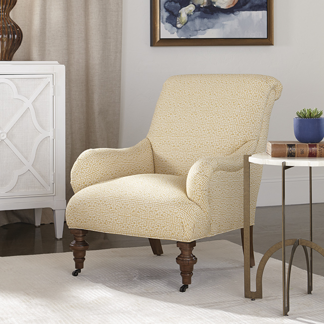 Pastel accent chair