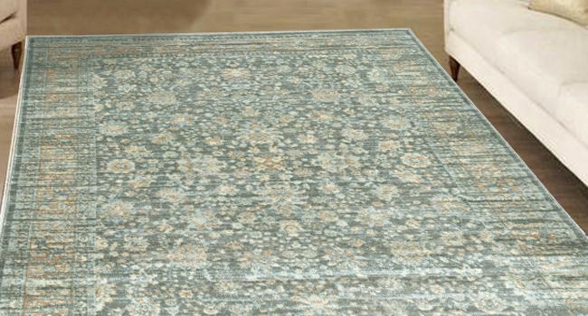 Pastel area rug
