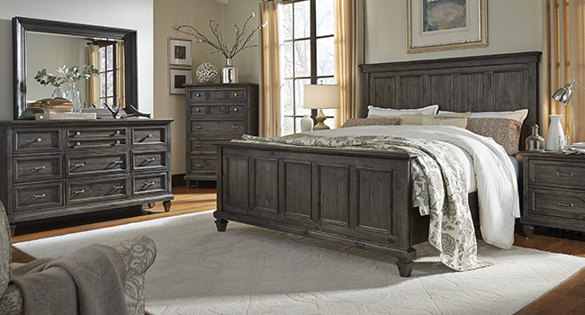 Rustic brown bedroom set