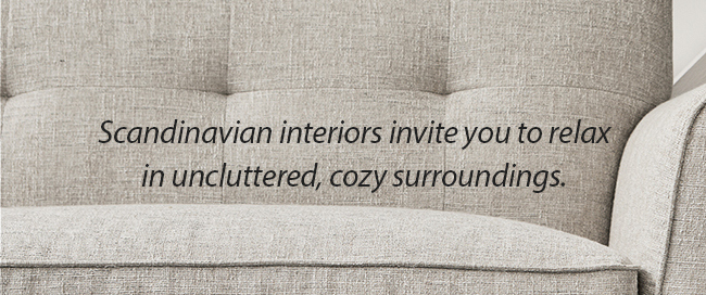 Scandinavian interiors invite you to relax in uncluttered, cozy surroundings