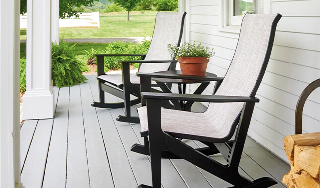 Outdoor rocking recliner for father's day.