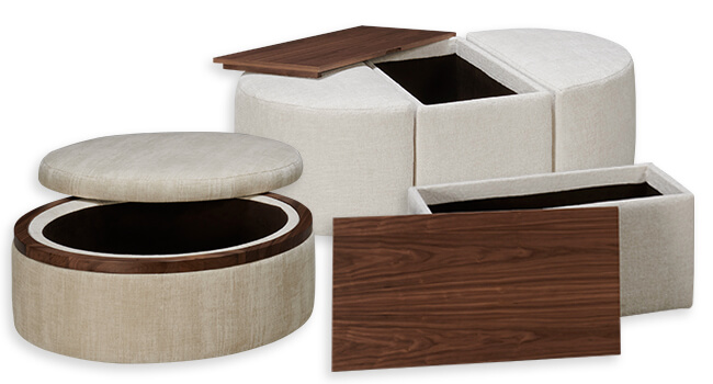 A lift-top desk found at Jordan's Furniture that gives you the option to sit or stand