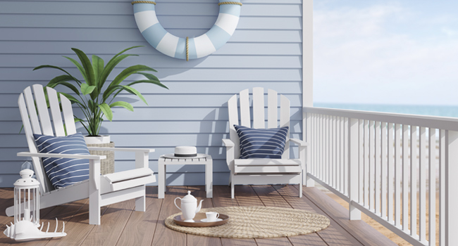 Outdoor Deck chairs and table