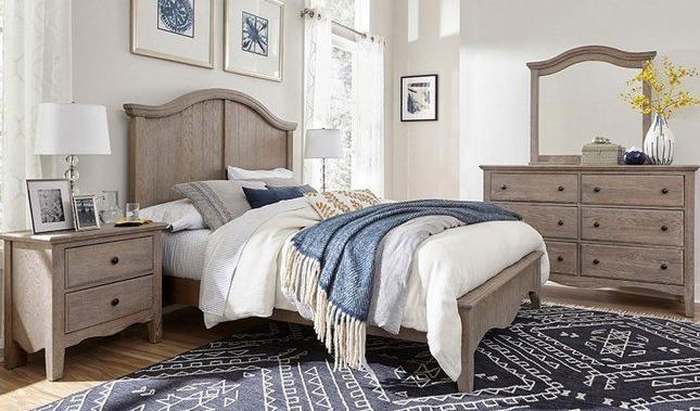 Bedroom set with dresser, mirror and nightstand