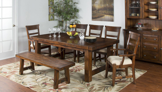Sunny Designs Vineyard 6 Piece Dining Set with Leaf