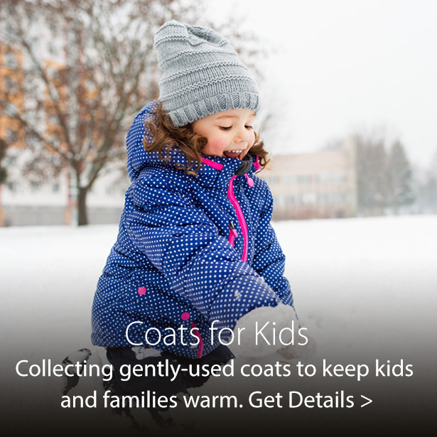 2019 Coats for Kids charity donation drive sponsored by Jordan's Furniture