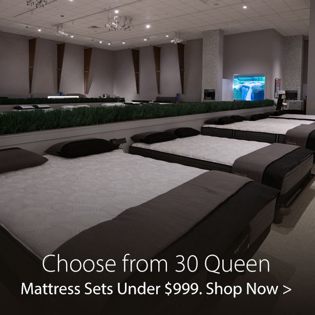 Choose from 30 Queen Mattress Sets Under $999 at Jordan's Furniture stores in CT, MA, NH, and RI