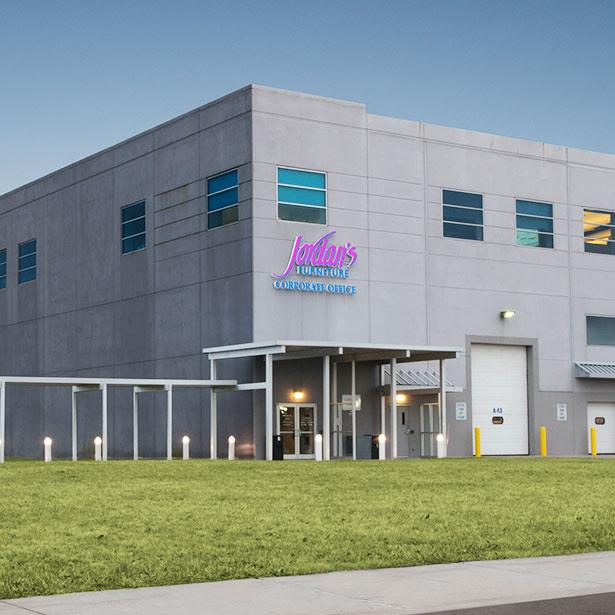 Jordan's Furniture East Taunton Corporate Headquarters and Customer Pick-up