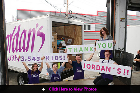Jordan's Furniture donation to Cradles to Crayons helps more than 3,500 children in need get ready for school from head to toe!