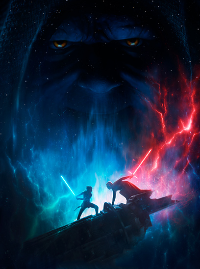 Star Wars: The Rise of Skywalker in the Sunbrella IMAX 3D movie theaters in Jordan's Furniture in Natick and Reading Ma