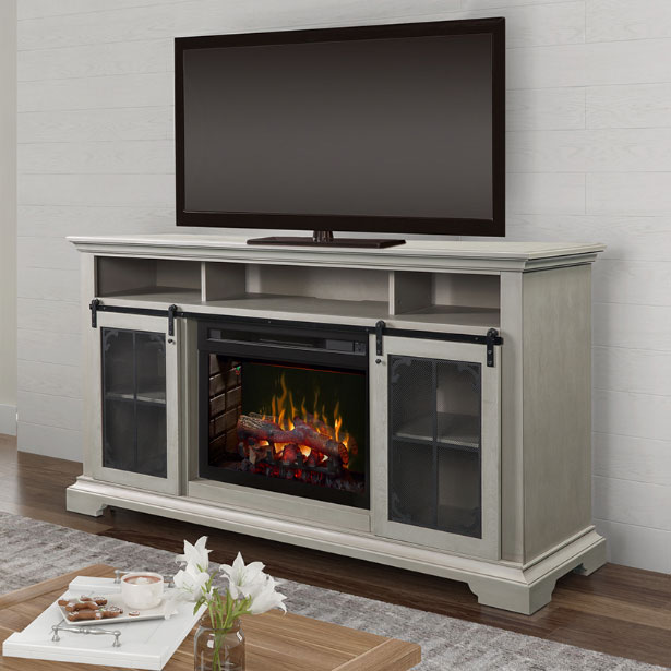 Accent Electric Fireplaces at Jordan's Furniture stores in CT, MA, NH, and RI