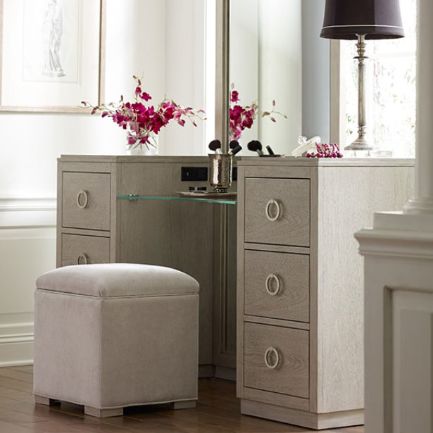 Accent Vanity and Jewelry Chests at Jordan's Furniture stores in CT, MA, NH, and RI