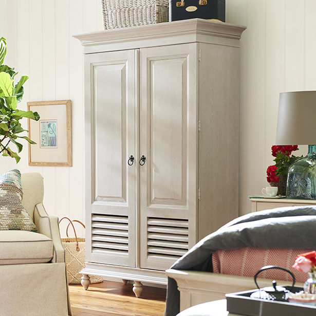 Armoire at Jordan's Furniture stores in CT, MA, NH, and RI