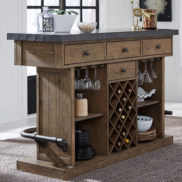 Game Room Bar and Wine Storage at Jordan's Furniture stores in CT, MA, NH, and RI