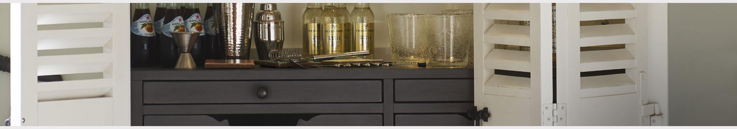 Bar & Wine Storage at Jordan's Furniture stores in CT, MA, ME, NH, ME,  and RI