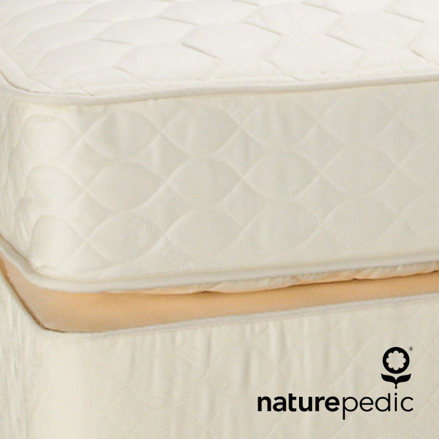 Naturepedic Mattresses at Jordan's Furniture stores in CT, MA, NH, and RI