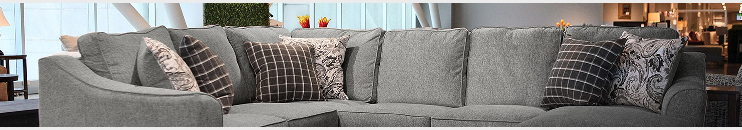 Farmhouse Sectional Sofa With Recliner