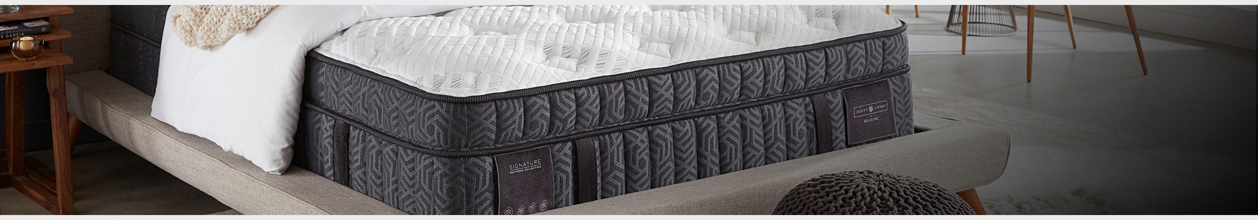 Scott Living by Restonic Mattresses for sale at Jordan's Furniture stores in MA, NH, CT, ME and RI