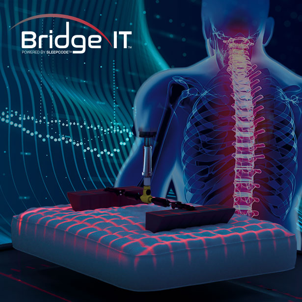 Meet BridgeIT and find the perfect mattress at any Jordan's Furniture Sleep Lab Location at CT, MA, NH and RI!