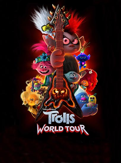 Trolls World Tour in Sunbrella IMAX Theaters at Jordans Furniture located in CT, MA, NH and RI!