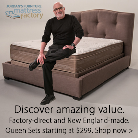 Jordan's Mattress Factory on  sale at Jordan's Furniture stores in MA, CT, NH and RI