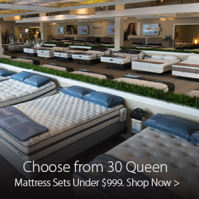 30 Queen Mattress Sets Under $999 at Jordan's Furniture stores in CT, MA, NH and RI