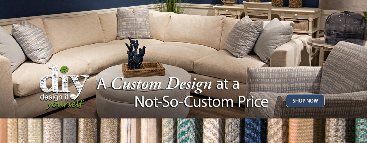 Design it Yourself and Get up to 60 months No Interest with equal payments at Jordan's Furniture stores in CT, MA, NH, and RI