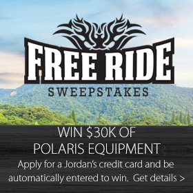 Free Ride Sweepstakes at Jordan's Furniture stores in CT, MA, NH, and RI