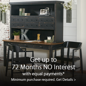 Get up to 60 months No Interest with Equal Payments at Jordan's Furniture stores in CT, MA, NH, and RI