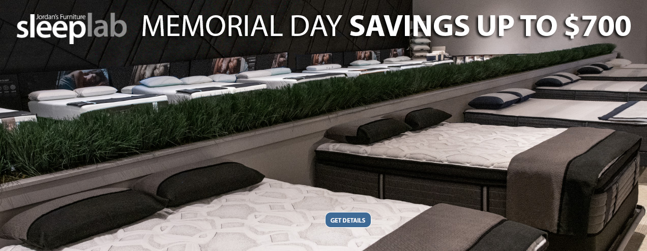 Sleep Lab Memorial Day Event At Jordan S Furniture In Ct Ma Nh And Ri