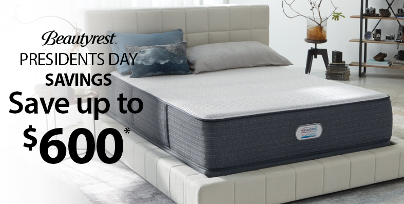 Save up to $600 on select Beautyrest mattresses at Jordan's Furniture stores in CT, MA, NH, and RI