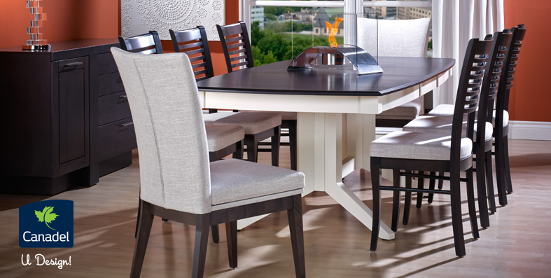 Latest Dining Table Designs Canadel U Design from Jordanu0027s Furniture in CT,MA, NH and RI