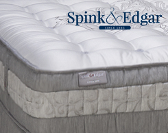 Spink & Edgar mattresses at Jordan's Furniture stores in CT, MA, NH, and RI