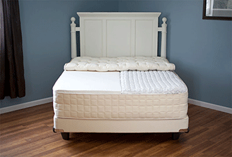 Naturepedic mattresses for sale at Jordan's Furniture stores in MA, NH, and RI