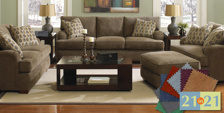 Customize a sectional, sofa, chair or ottoman at Jordan's Furniture stores in CT, MA, NH and RI