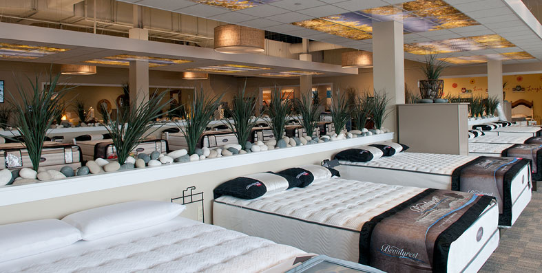 Mattresses for sale at Jordan's Furniture Sleep Lab stores in MA, NH and RI