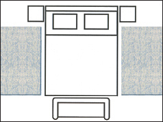 5x8 bedroom area rug on sale at Jordan's Furniture stores in CT, MA, NH, and RI