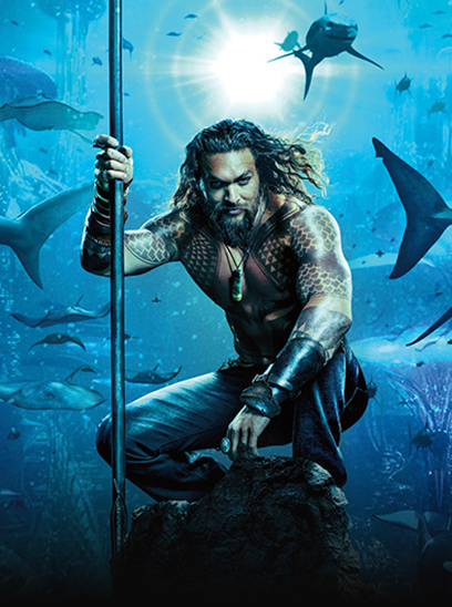 Aquaman in the Sunbrella IMAX 3D movie theaters in Jordan's Furniture in Natick and Reading Ma