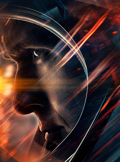 First Man in the Sunbrella IMAX 3D movie theaters in Jordan's Furniture in Natick and Reading Ma