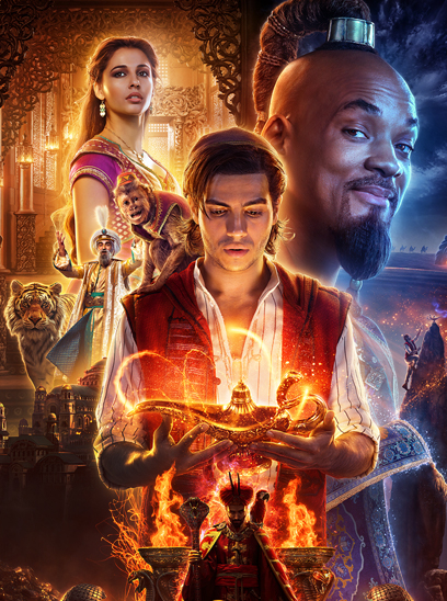Aladdin in the Sunbrella IMAX 3D movie theaters in Jordan's Furniture in Natick and Reading Ma