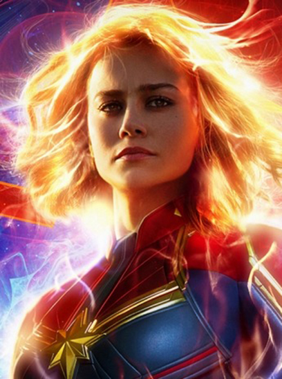 Captain Marvel in the Sunbrella IMAX 3D movie theaters in Jordan's Furniture in Natick and Reading Ma