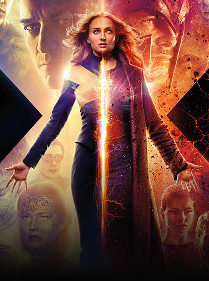 Dark Phoenix in the Sunbrella IMAX 3D movie theaters in Jordan's Furniture in Natick and Reading Ma