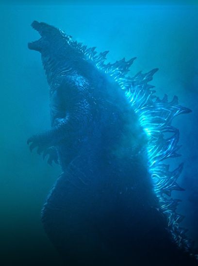 Godzilla: King of the Monsters in the Sunbrella IMAX 3D movie theaters in Jordan's Furniture in Natick and Reading Ma