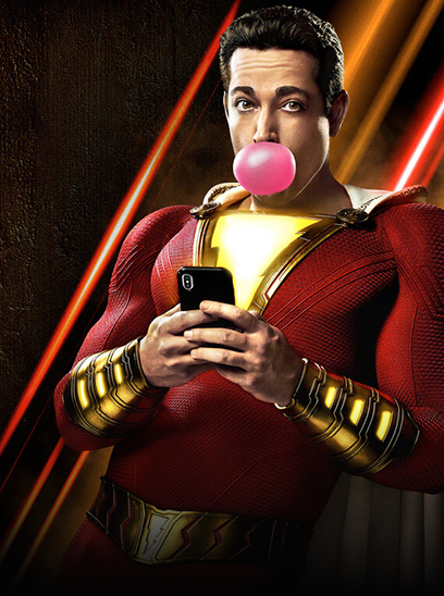 Shazam in the Sunbrella IMAX 3D movie theaters in Jordan's Furniture in Natick and Reading Ma